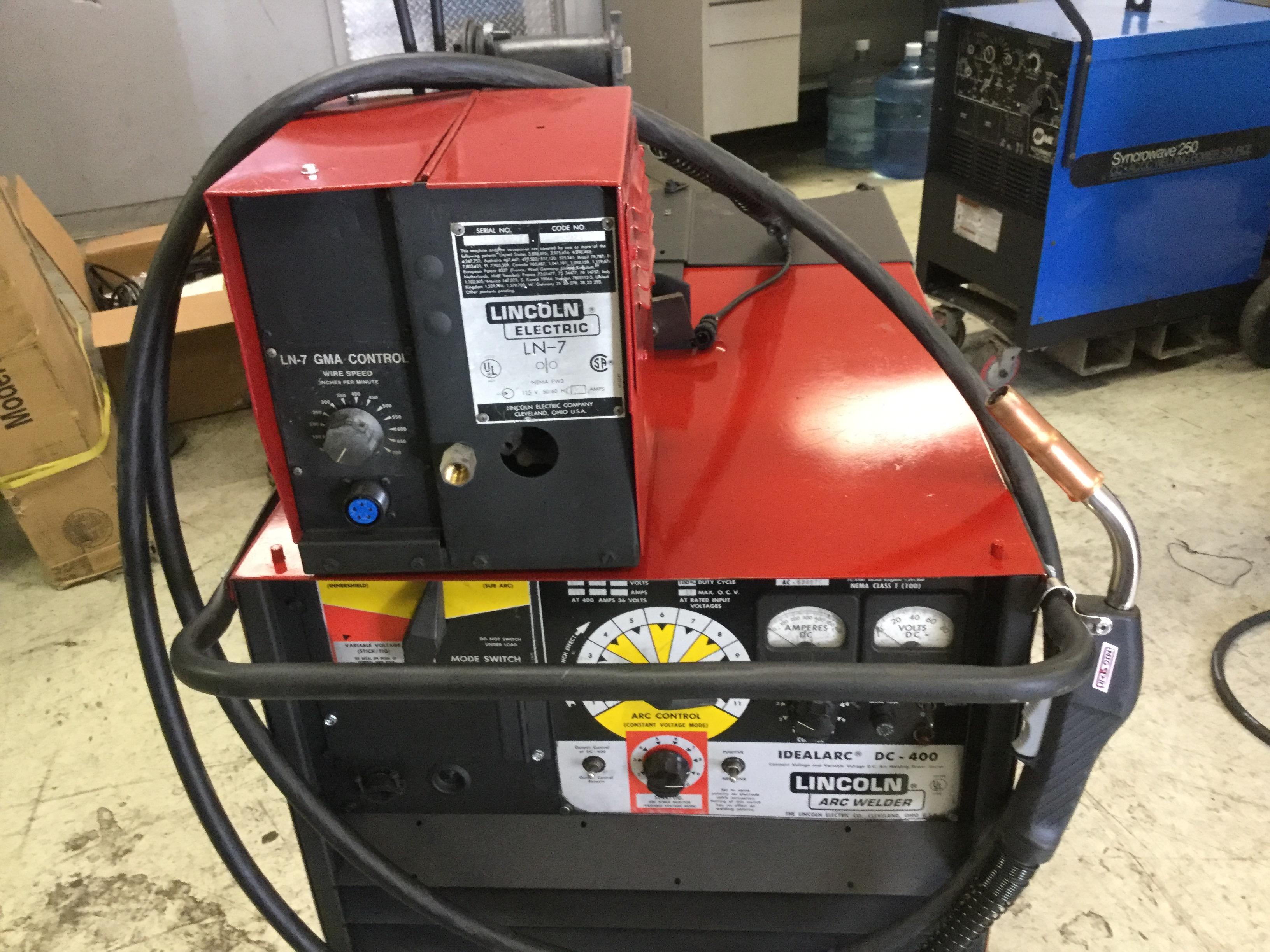 Lincoln Dc 400 Welder Cc Cv Multi Process Arc Heat Stick